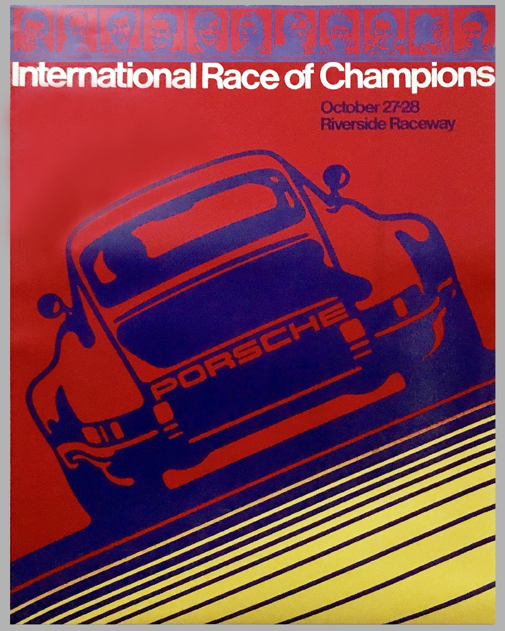 1973 Porsche Victory Poster - For the IROC at Riverside Raceway