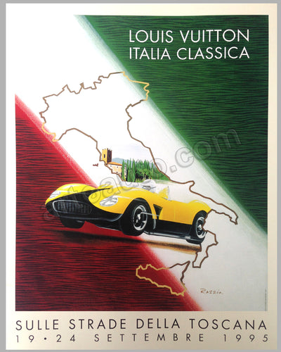 Louis Vuitton Italia Classica Toscan Rally 1995 large poster by Razzia
