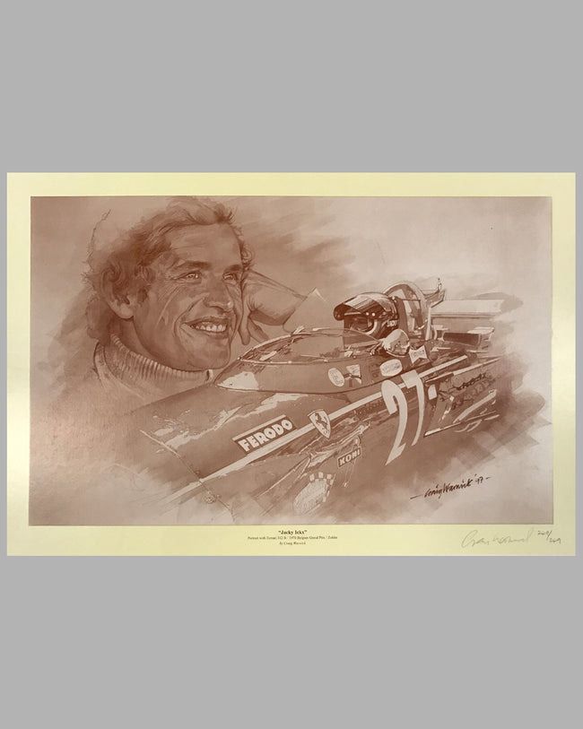 Jacky Ickx artist proof by Craig Warwick (1997)