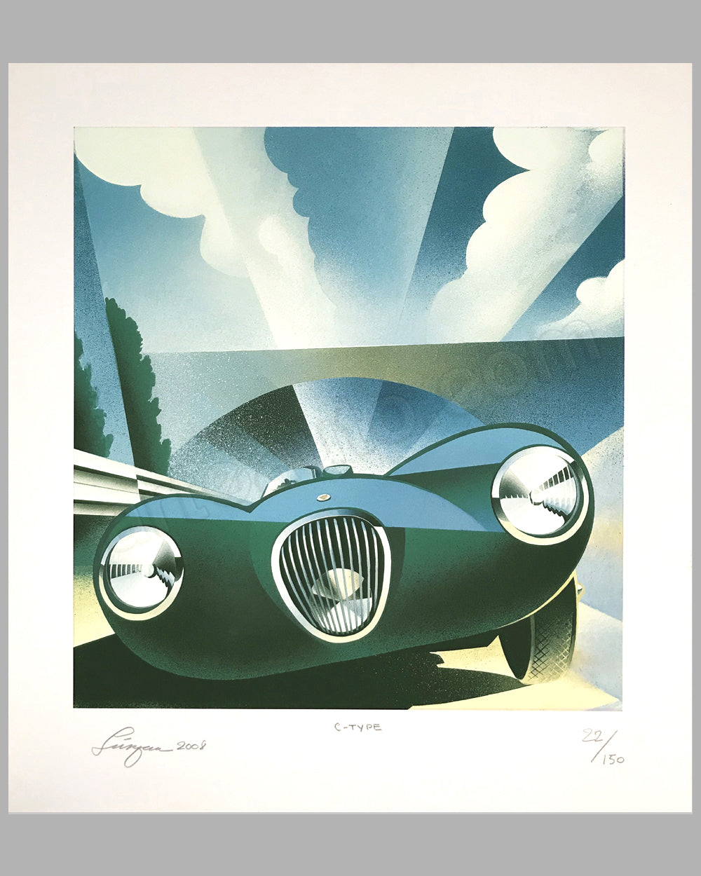 Jaguar C-Type giclée by Alain Lévesque