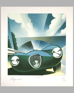 Jaguar C Type giclée by Alain Lévesque