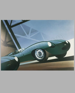 Jaguar D Type poster by Alain Lévesque