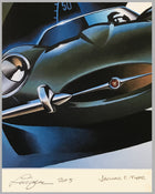 Jaguar E Type giclée by Alain Lévesque, 2011