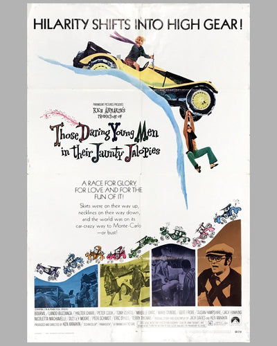 1969 original movie poster, Those Daring Young Men in Their Jaunty Jalopies