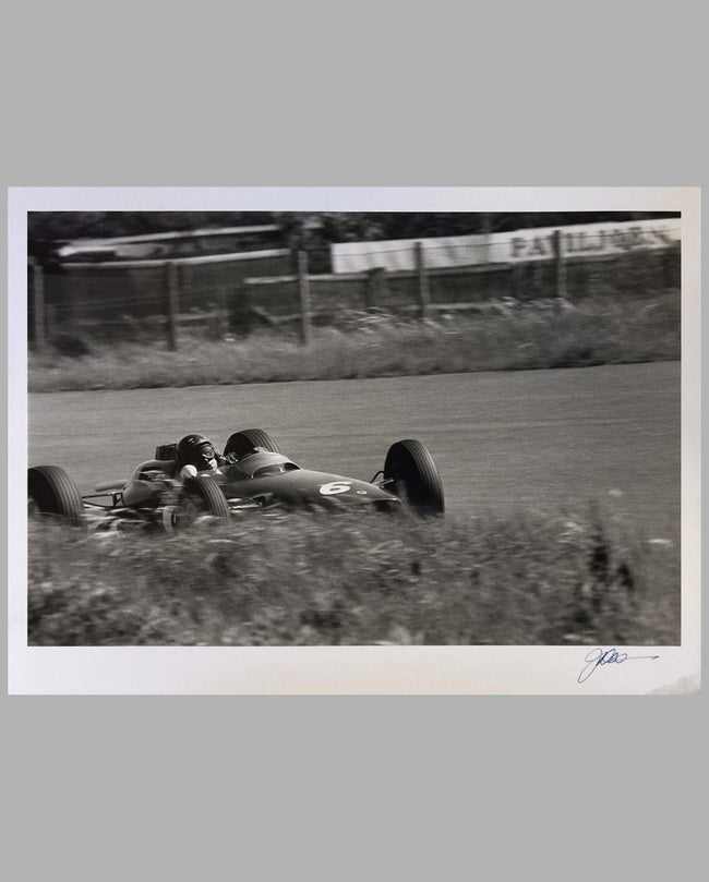 Jim Clark in his Lotus photograph by Jesse Alexander, signed