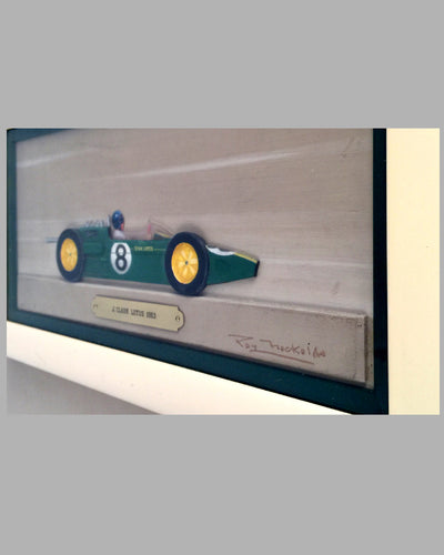 Jim Clark Lotus 1963 painting / sculpture by Roy Nockolds and Rex Hays
