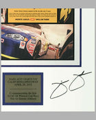 Chevrolet ad copy for Jimmie Johnson first NASCAR win, Autographed by Jimmie Johnson 2
