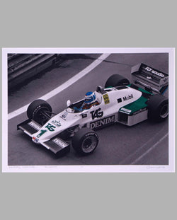 Keke Rosberg Detroit GP 1983 period photograph by Allen Weiss