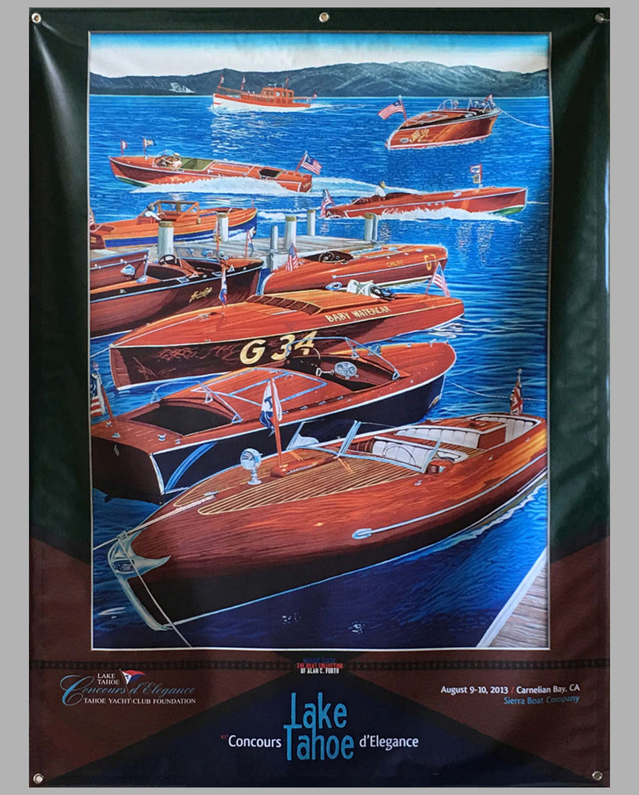 Lake Tahoe large vinyl banner for the 2013 Concours d'Elegance