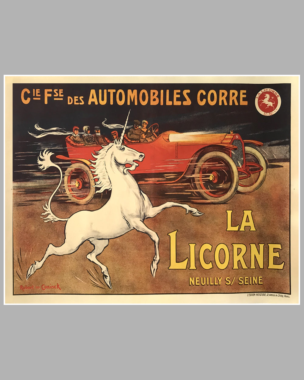 La Licorne large original poster ca. 1918 by Robert de Coninck