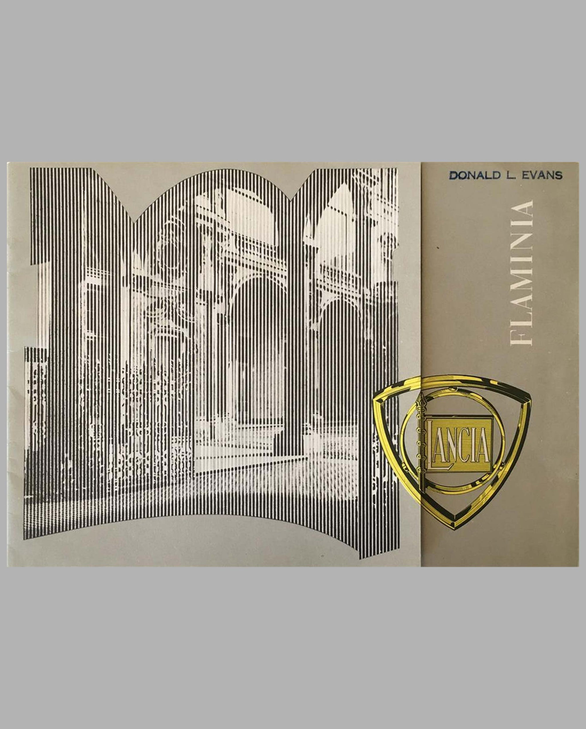 Lancia Flaminia factory sales brochure, 1958 cover