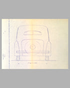 "Lancia Berlina ""Bilus"" Aprilia blueprint from Pininfarina studio, late 1945"