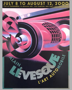 Alain Lévesque at l'art et l'automobile in 2000 poster