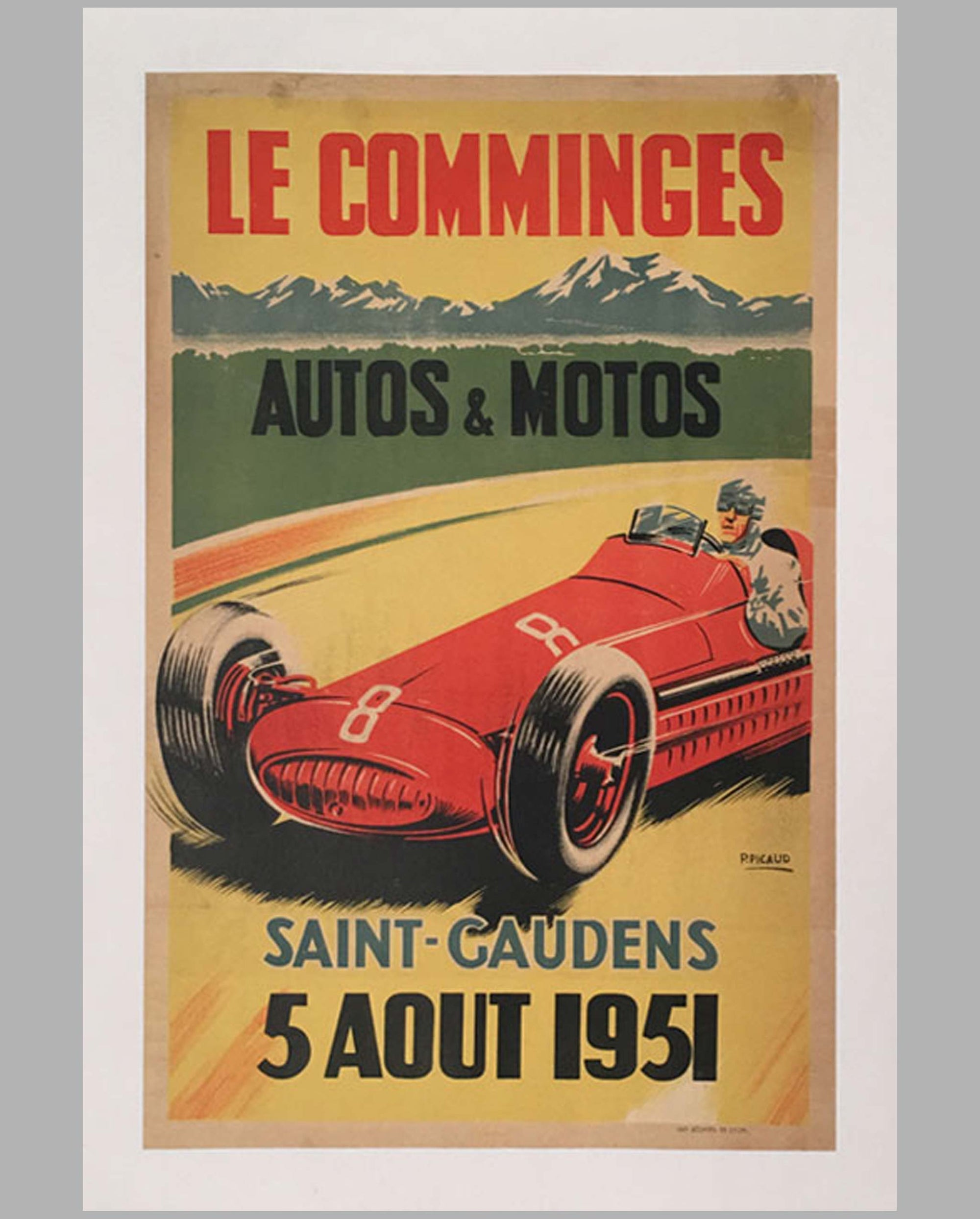 Le Comminges original racing poster 1951 by P. Picaud
