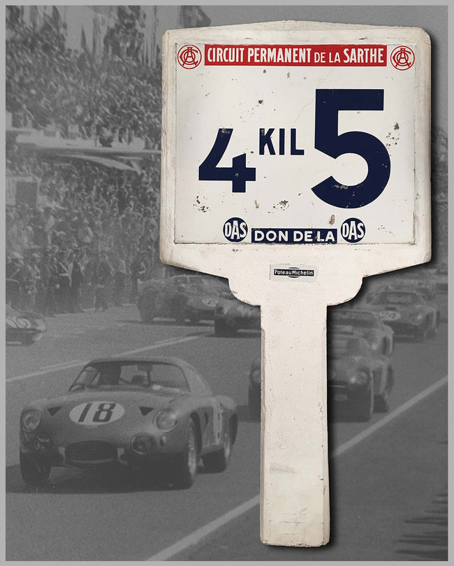 Authentic Le Mans race track Michelin marker sign