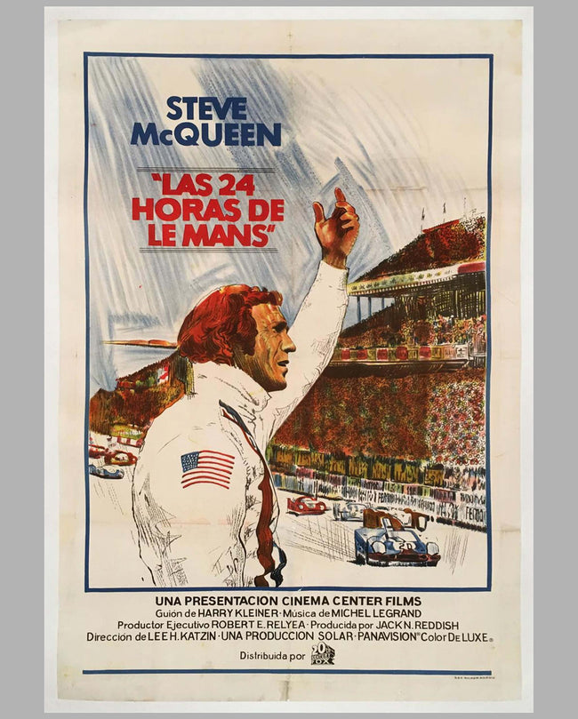 1971 Steve McQueen Le Mans original Spanish movie poster