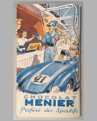 24 heures du Mans 1955 official program back
