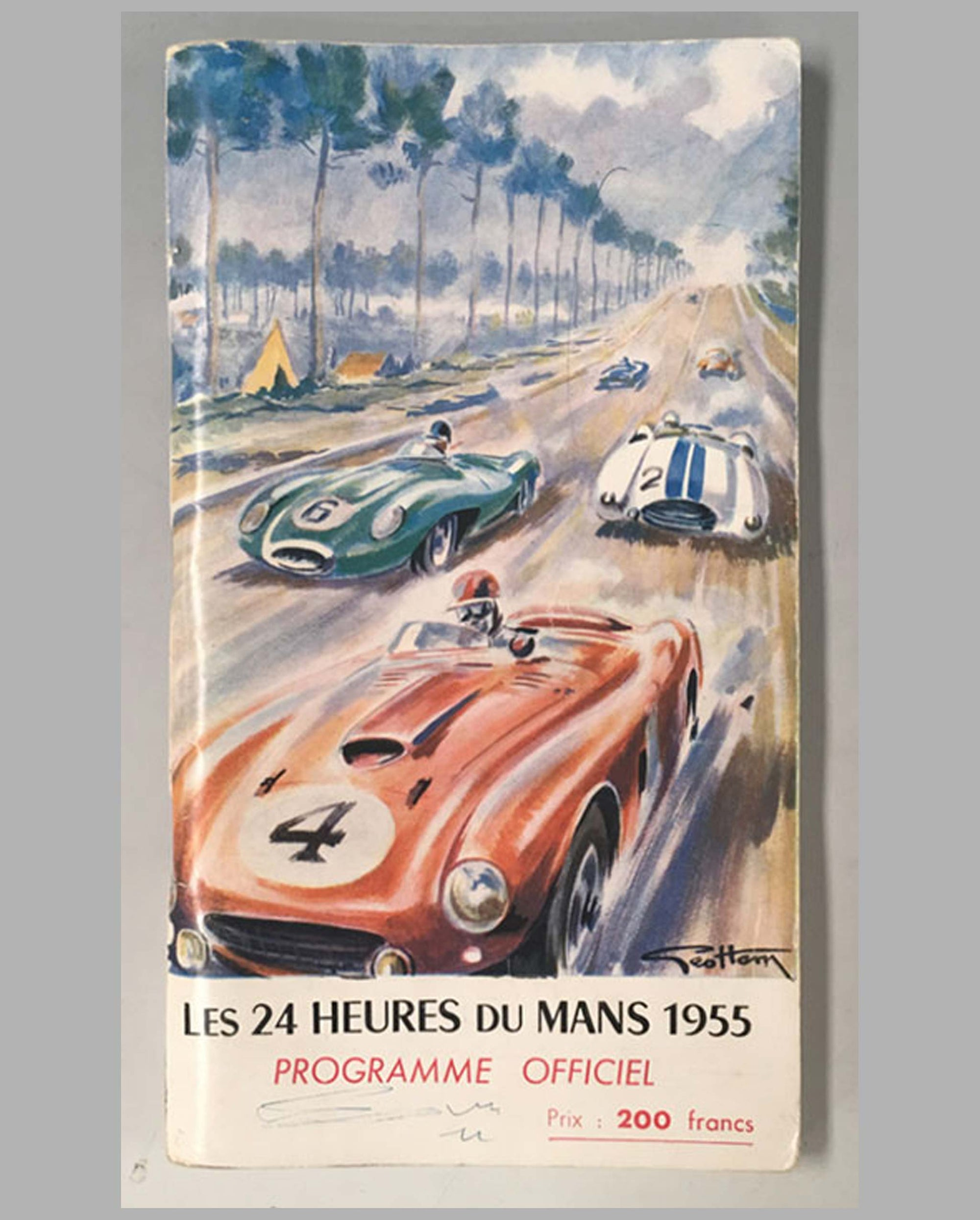 1955 - 24 heures du Mans official program - cover by Geo Ham