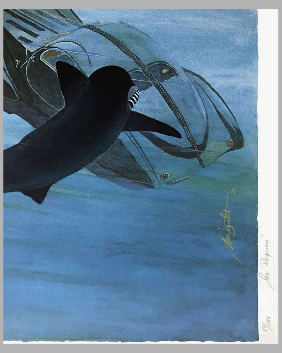 Les Requins (The Sharks) lithograph by Alain Mirgalet 2
