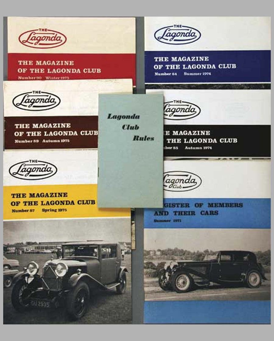 Lagonda Club Publications
