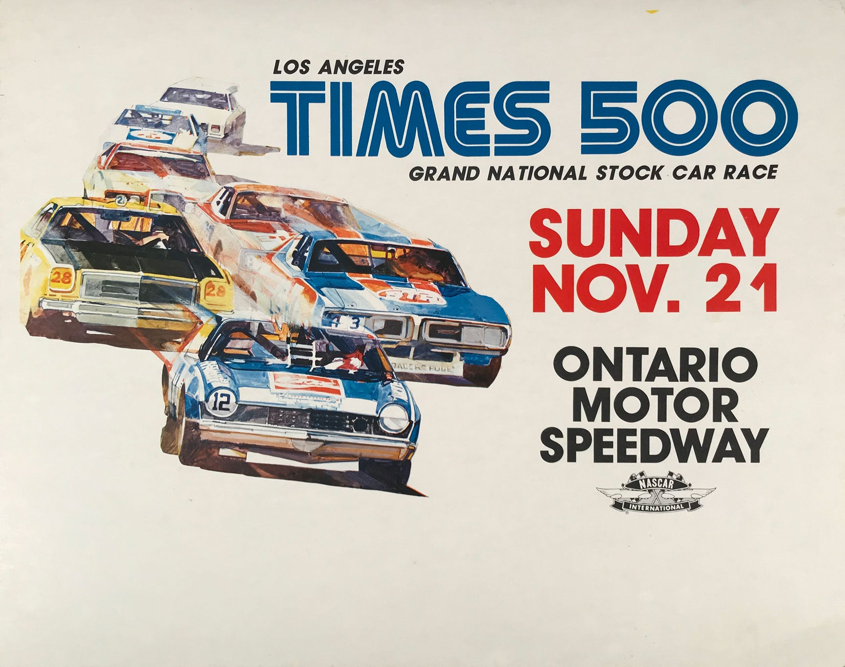 Los Angeles Times 500 at Ontario Motor Speeday, 1976