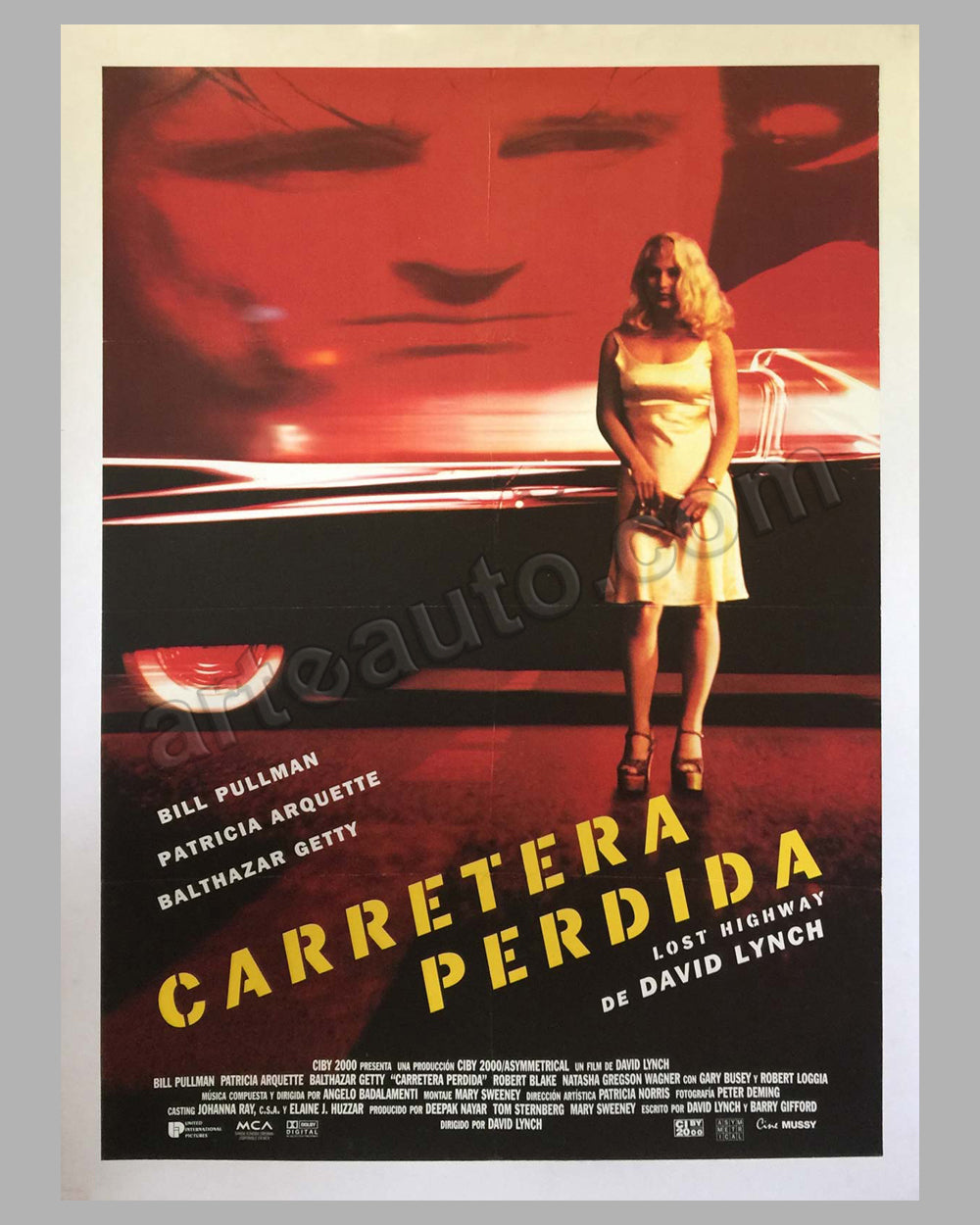 "1997 Carretera Perdida movie poster ""Lost Highway"""