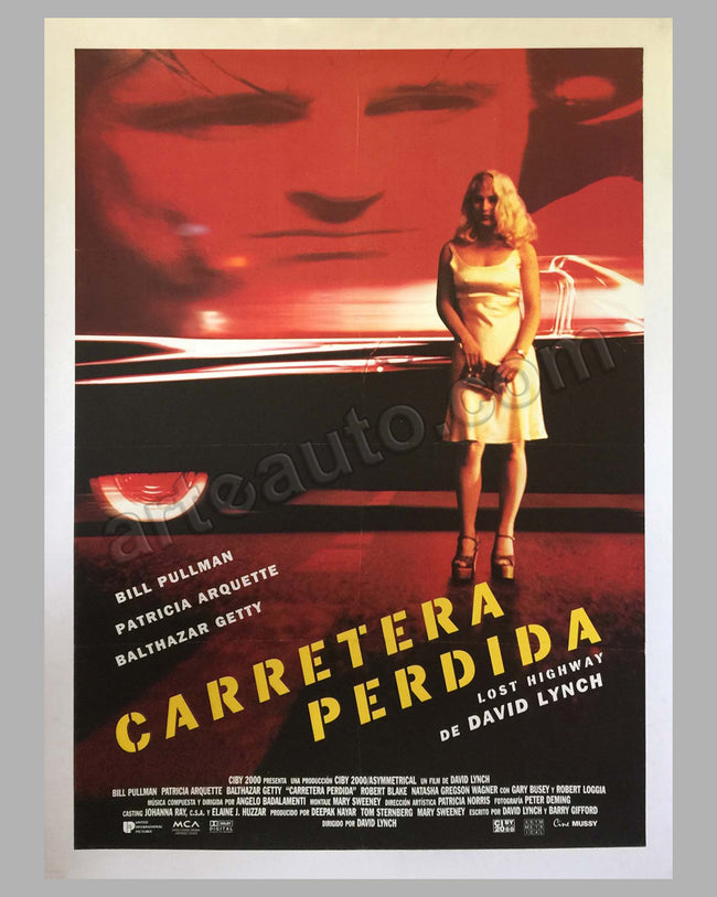 "Carretera Perdida movie poster ""Lost Highway"""