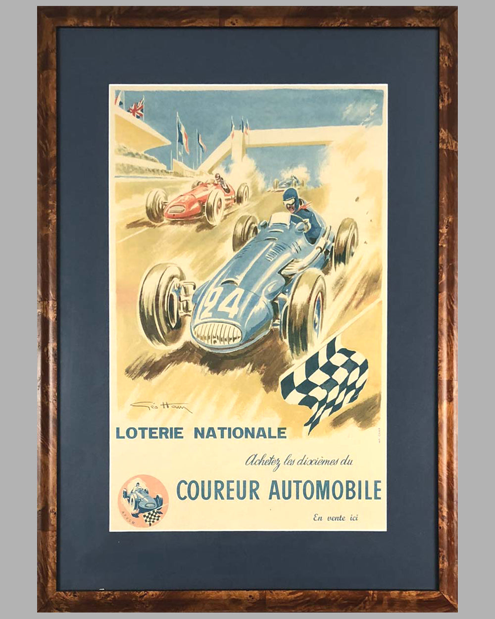 1940's Loterie Nationale original advertising Poster by Geo Ham