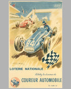 Loterie Nationale original advertising Poster by Geo Ham 2