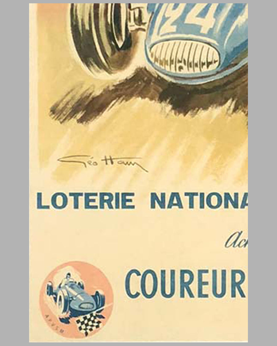 Loterie Nationale original advertising Poster by Geo Ham 3