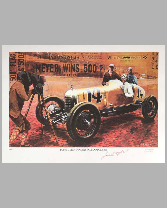 Louis Meyer in his Miller Special Print, autographed