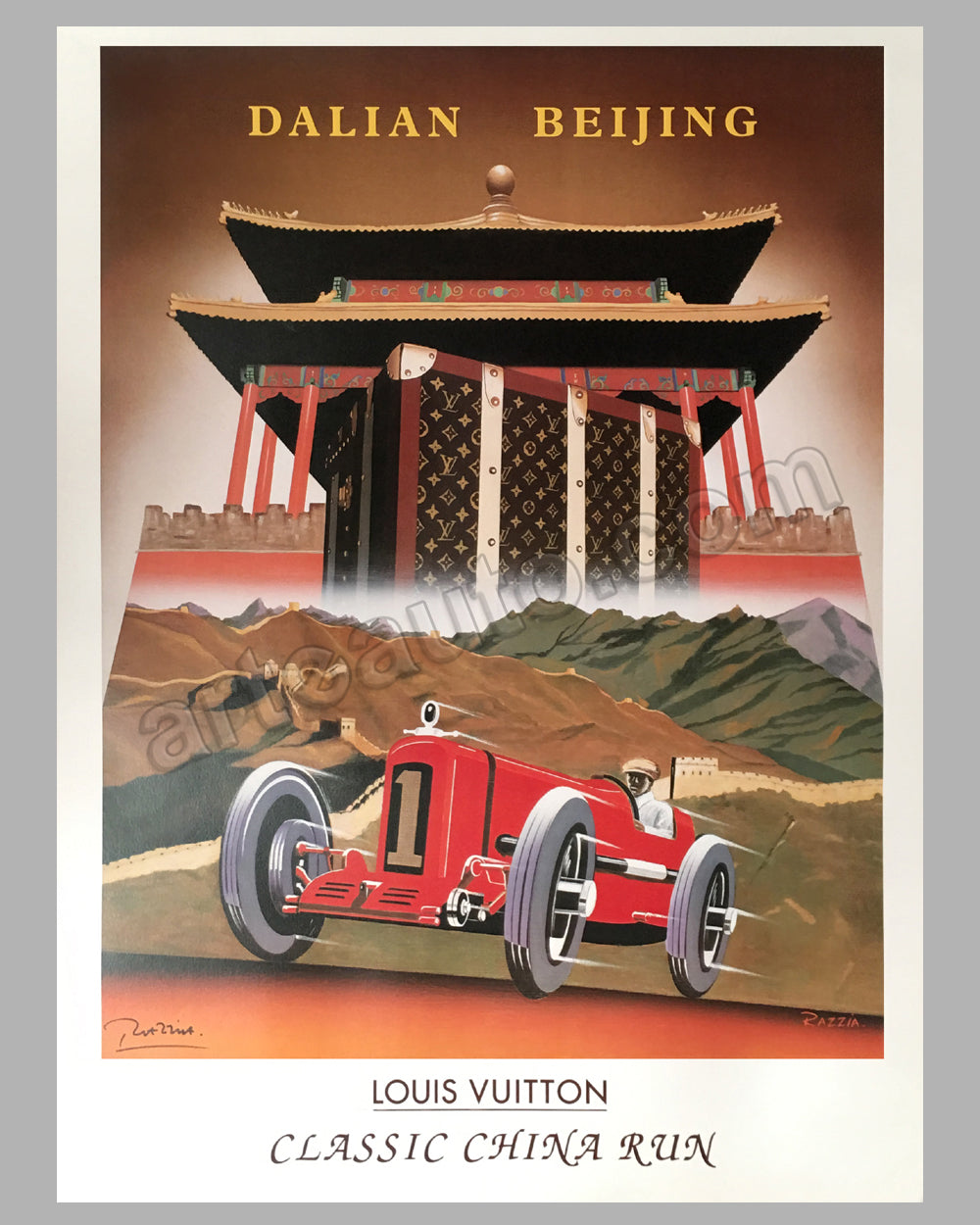 Louis Vuitton China Run 1998 large original poster by Razzia
