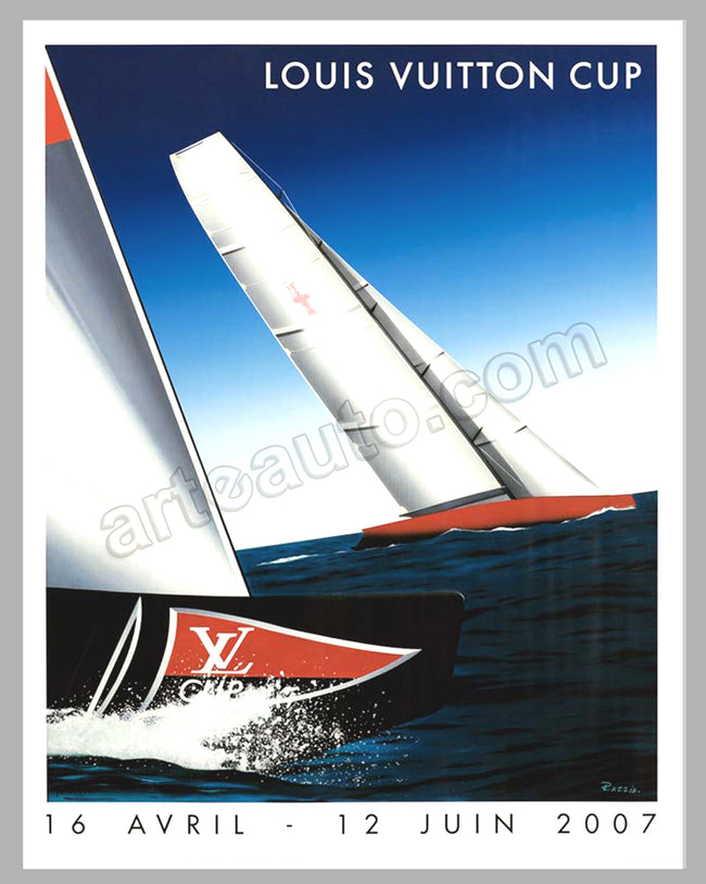 Louis Vuitton Cup 2007 31 x 25 poster by Razzia