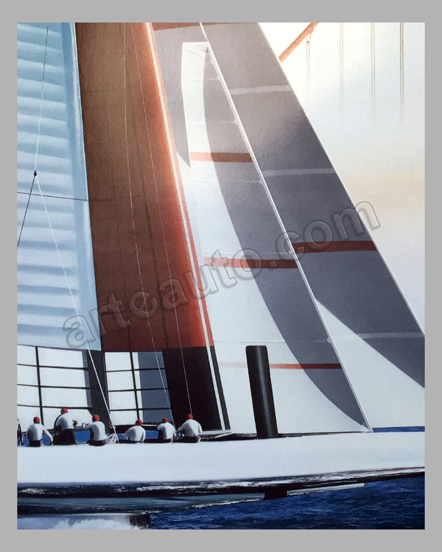 Louis Vuitton Cup 2013 large poster by Razzia
