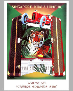 Louis Vuitton Vintage Equator Run 1993 Large event poster by Razzia