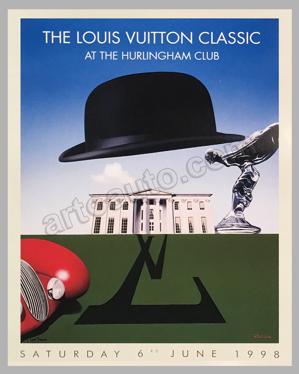 Louis Vuitton Classic at the Hurlingham Club 1998 large poster by Razzia