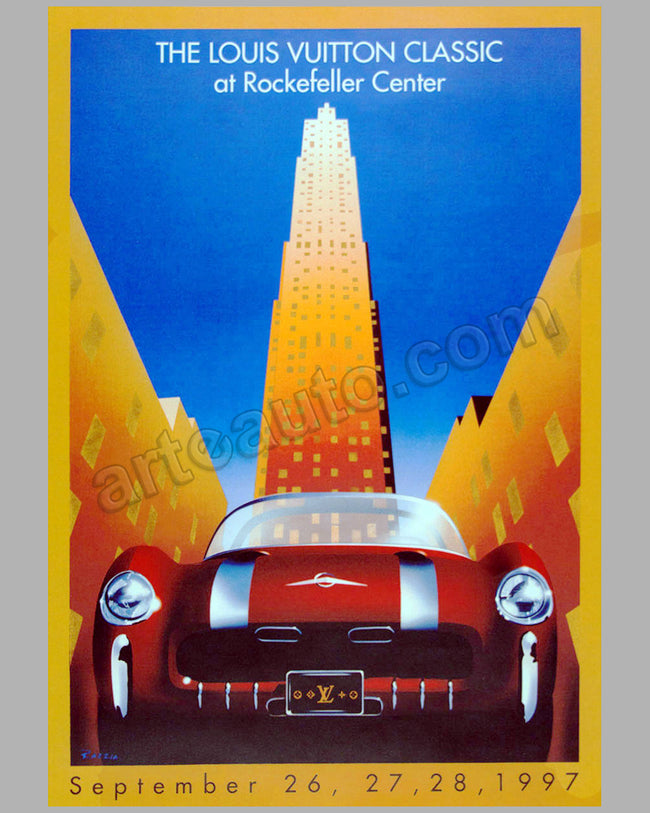 Louis Vuitton Classic at Rockefeller Center 1997 large poster by Razzia