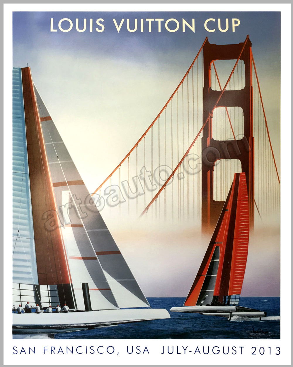 Louis Vuitton Cup, San Francisco, 2013 poster by Razzia