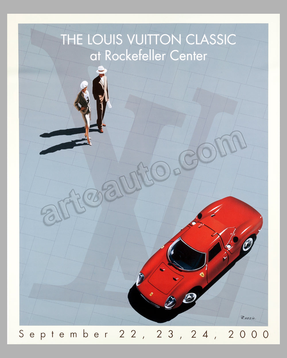 Louis Vuitton Classic at Rockefeller Center 2000 large poster by Razzia