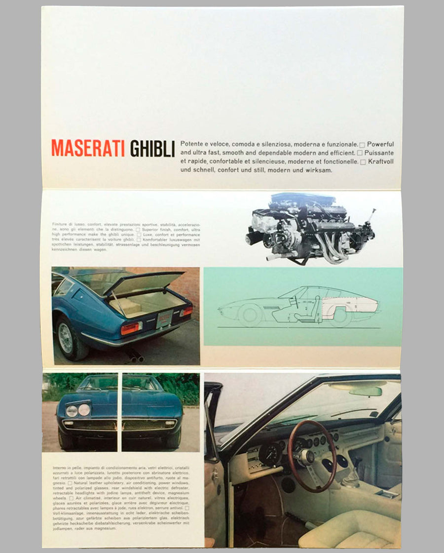 Maserati Ghibli original factory brochure inside
