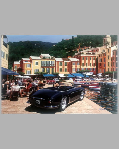 Maserati A6G by Fina in Portofino print by Tim Layzell 2