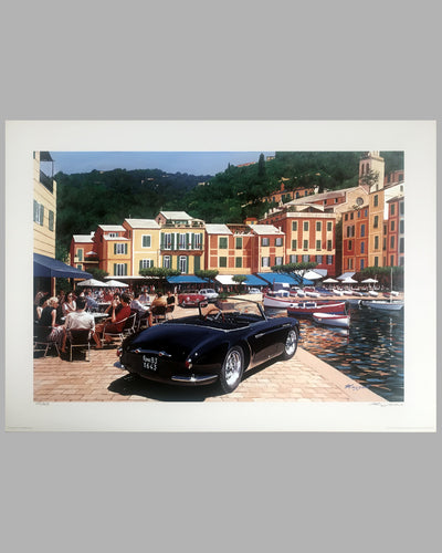 Maserati A6G by Fina in Portofino print by Tim Layzell