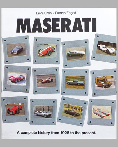 "Maserati ""A Complete History from 1926 to The Present"" book by Luigi Orsini and Franco Zagari, 1980"