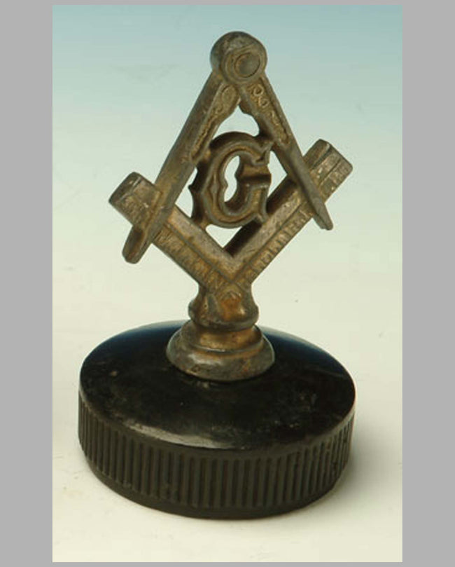 Masonic Logo hood ornament, 1920's