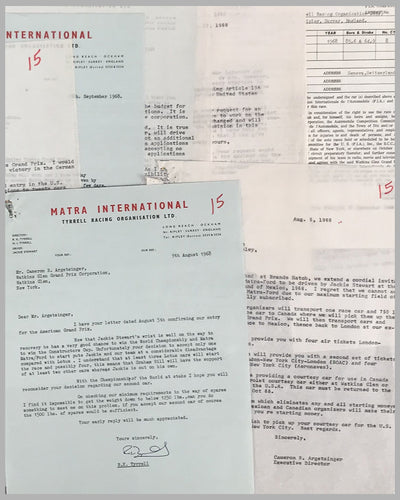Matra International correspondence with Watkins Glen Grand Prix Corp. 2