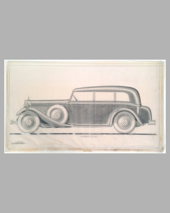Mercedes-Benz 770 Grosser original factory drawing