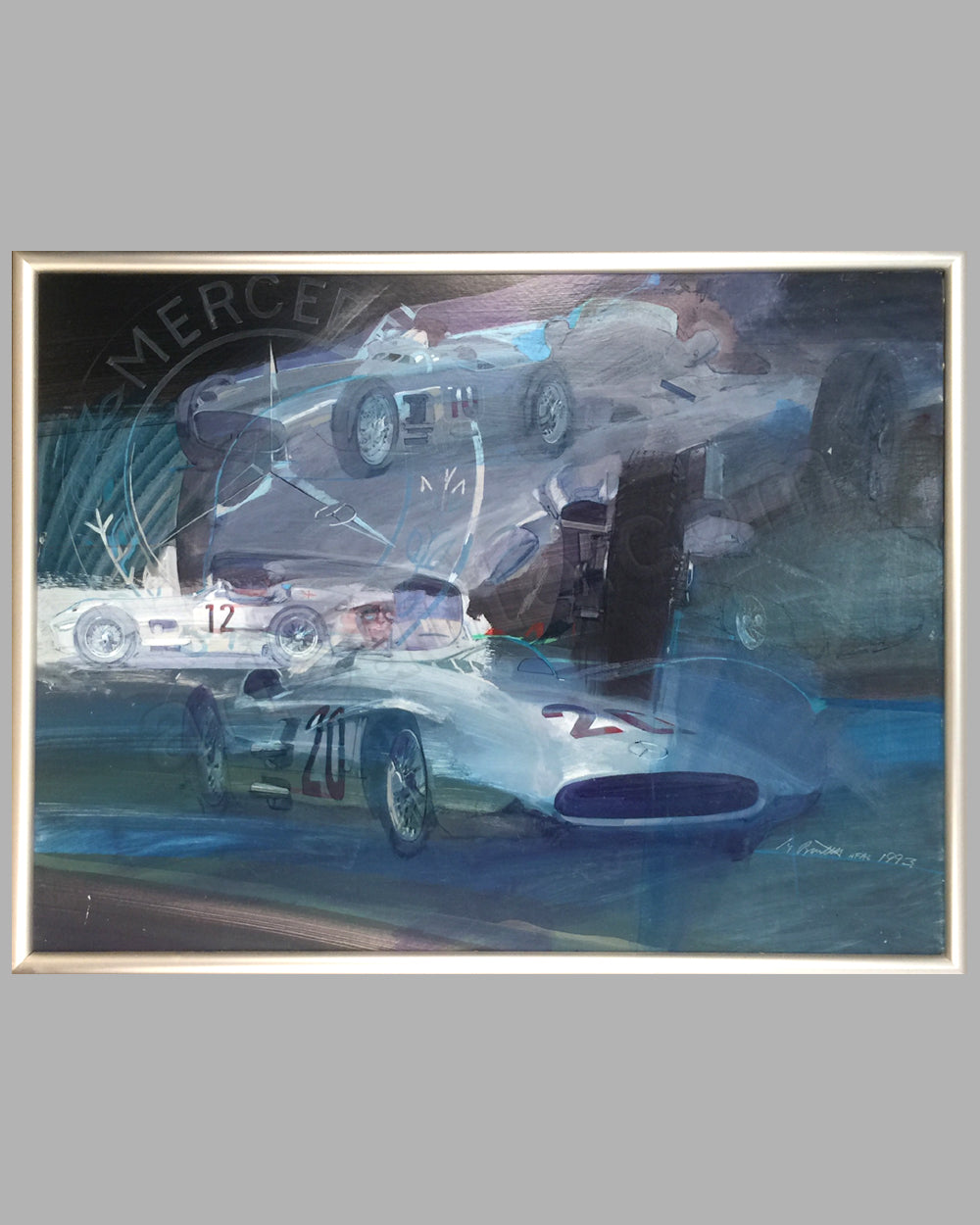Mercedes-Benz Grand Prix Cars painting by George Bartell, 1993