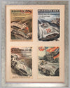 Four Mercedes Benz victory posters by Hans Liska 1954 - 1955
