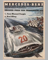 Four Mercedes Benz victory posters by Hans Liska 1954 - 1955 4