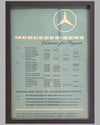 Four Mercedes Benz victory posters by Hans Liska 1954 - 1955 6